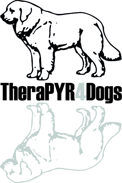 Logo TheraPyr4Dogs - Witte achtergrond